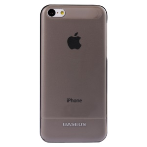 Black Baseus 0.6MM Ultra-thin Hard Case for iPhone 5C + Screen Protector