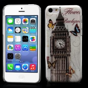Raised Big Ben Butterflies Plastic Case for iPhone 5C