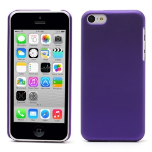 Purple Rubberized Hard Back Cover for iPhone 5c