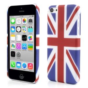 For iPhone 5c Rubberized Union Jack Flag Hard Case
