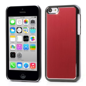 Red Brushed Aluminum Plastic Shell for iPhone 5c