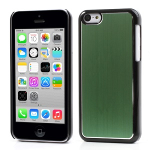 Green Brushed Aluminum Plastic Cover for iPhone 5c