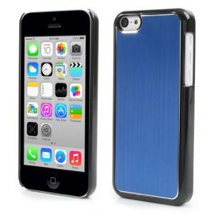 Dark Blue Brushed Aluminum Plastic Hard Case for iPhone 5c