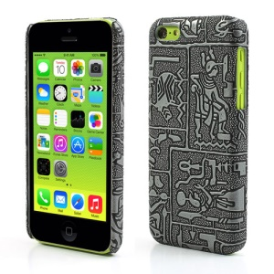 Grey Ancient Egypt Carving Retro Hard Case for iPhone 5c