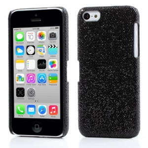 Black Glittery Sequins Hard Plastic Case for iPhone 5c