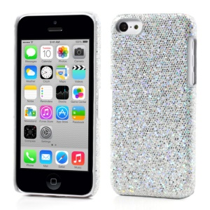 Silver Glittery Sequins Hard Case for iPhone 5c