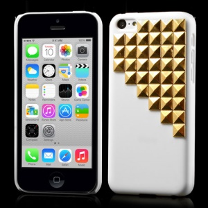 Punk Style Gold Pyramid Rivets Hard Back Case for iPhone 5c