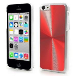 Red CD Lines Aluminium & Plastic Case for iPhone 5c