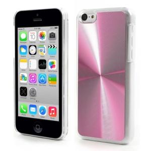 Pink CD Lines Aluminium & Plastic Shell for iPhone 5c
