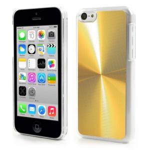 Gold CD Lines Aluminium & Plastic Back Case for iPhone 5c