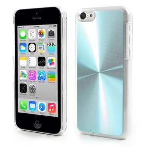 Baby Blue CD Lines Aluminium Backplate Plastic Case for iPhone 5c