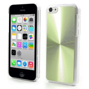 Green CD Lines Aluminium Backplate Plastic Case for iPhone 5c