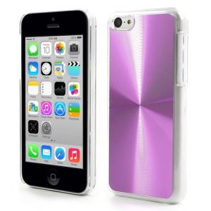 Purple CD Veins Aluminium Backplate Plastic Case for iPhone 5c