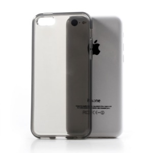Grey Soft TPU Gel Case Cover Accessory for iPhone 5C