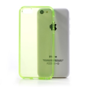 Green Green Soft TPU Gel Case Cover Accessory for iPhone 5C