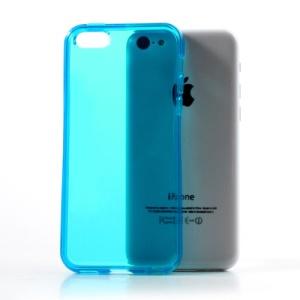 Blue Soft TPU Gel Case Cover Accessory for iPhone 5C