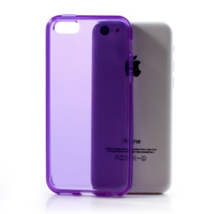 Purple Soft TPU Gel Case Cover Accessory for iPhone 5C