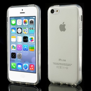 Transparent Glossy Outer Frosted Inner TPU Gel Cover Case for iPhone 5C