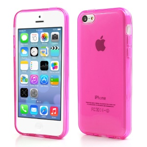 Rose Glossy Outer Frosted Inner TPU Gel Cover Case for iPhone 5C