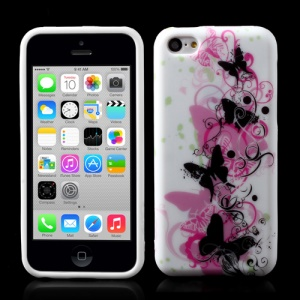 Elegant Butterflies Soft TPU Gel Case for iPhone 5c