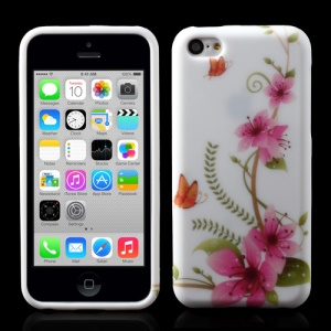 Blooming Flower TPU Gel Cover for iPhone 5c