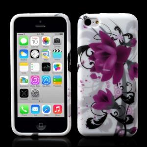 For iPhone 5c Lotus Flower TPU Skin Case