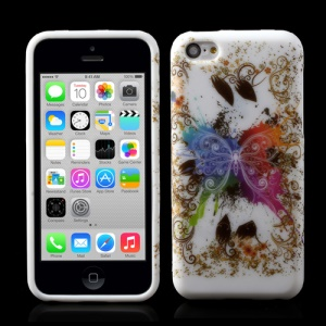 Pretty Colorful Butterfly TPU Case for iPhone 5c
