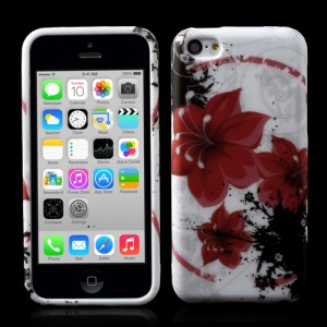 Red Lily Flower TPU Gel Shell for iPhone 5c