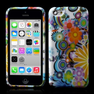 Colorful Flowers Matte TPU Jelly Case for iPhone 5c