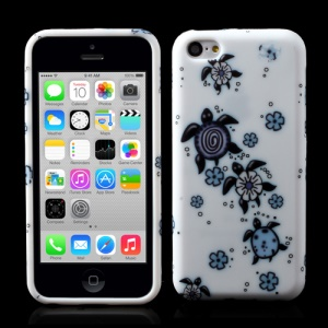 Flower Turtle Gel TPU Skin Cover for iPhone 5c