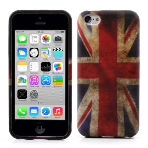 Vintage Union Jack Flag Soft TPU Case for iPhone 5c