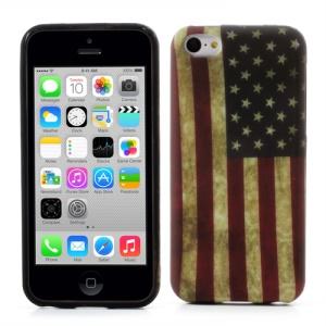 Retro American Flag Gel TPU Cover for iPhone 5c