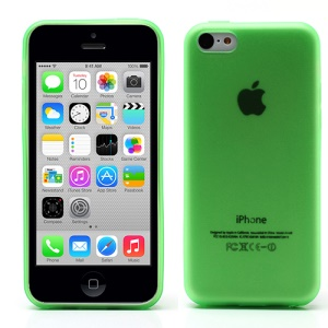 Ultra Thin Matte TPU Case for iPhone 5c with Anti-dust Plug - Translucent Green