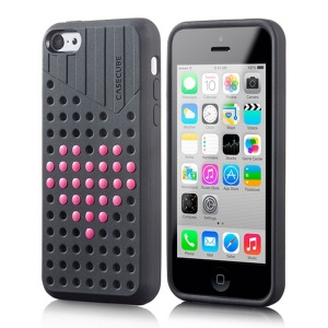 Black Casecube Hollow Dot DIY TPU Case for iPhone 5c