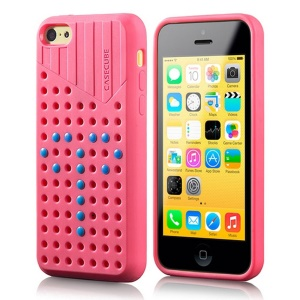 Rose Casecube Hollow Dot DIY TPU Gel Case for iPhone 5c