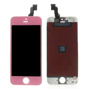 Pink for iPhone 5c LCD Assembly with Touch Screen + Digitizer Frame + Front Camera Holder