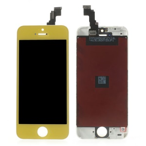 Yellow for iPhone 5c LCD Assembly with Touch Screen + Digitizer Frame + Front Camera Holder