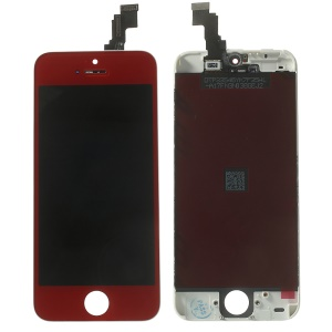 Red for iPhone 5c LCD Assembly w/ Touch Screen + Digitizer Frame + Front Camera Holder + Sensor IC Holder + Earpiece Mesh