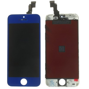 Dark Blue for iPhone 5c LCD Assembly w/ Touch Screen + Digitizer Frame + Front Camera Holder + Sensor IC Holder + Earpiece Mesh