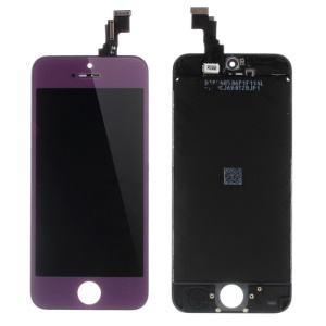 Purple for iPhone 5c Plated LCD Assembly ( OEM LCD Screen + Camera Holder + Sensor IC Holder + Earpiece Mesh) & (High quality Glass Lens + Digitizer Frame)