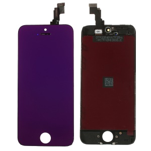 Purple for iPhone 5c Plated LCD Assembly (OEM LCD Screen + Camera Holder + Sensor IC Holder + Earpiece Mesh) & (High quality Glass Lens + Digitizer Frame)