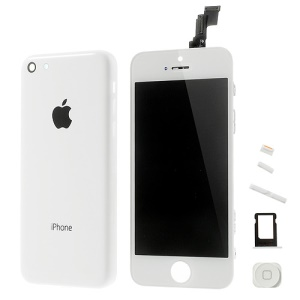 White Conversion Kit for iPhone 5c (LCD Assembly + Rear Housing Faceplate + Other Parts)