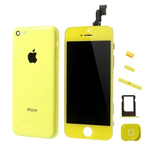 Yellow Conversion Kit for iPhone 5c (LCD Assembly + Rear Housing Faceplate + Other Parts)