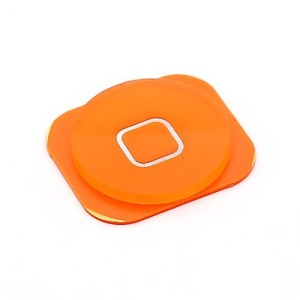 Orange Home Button Key Replacement Part for iPhone 5c