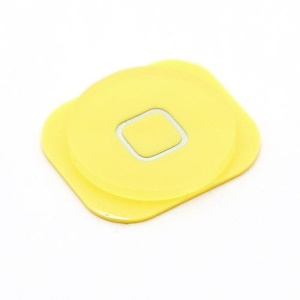 Yellow Home Button Key Replacement for iPhone 5c