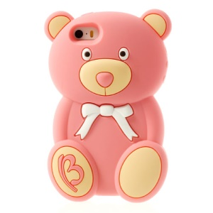 Adorable Bear Fragrant Silicone Case for iPhone 5s 5 - Pink