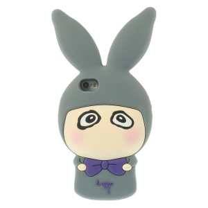 Cute Rabbit Shaped Matte Silicone Back Case for iPhone 5s 5 - Gray