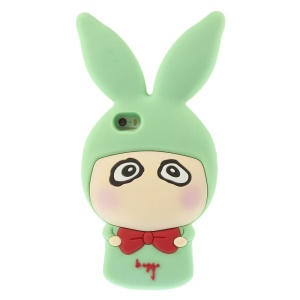 Cute Rabbit Shaped Matte Soft Silicone Case for iPhone 5s 5 - Cyan