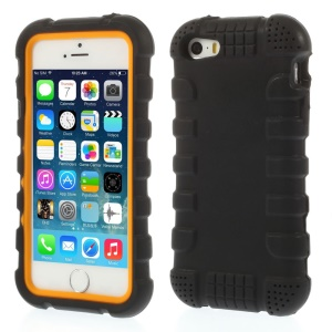 Anti-slip Soft Silicone Case for iPhone 5s 5 - Black