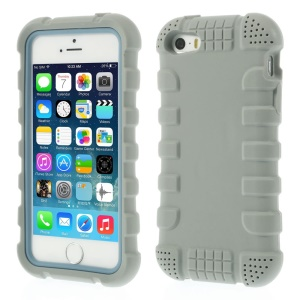 Anti-slip Soft Silicone Cover for iPhone 5s 5 - Gray